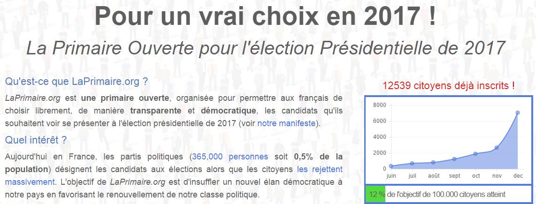 La Primaire Ouverte pour les élections de 2017   LaPrimaire.org